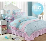 Bed Sheet Set (Korean Design) Blue